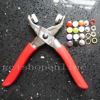 """One Press Snap Fastener Plier stud attaching 25 Set Open ring 3/8"""" Sew tool GBPP"""