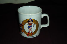 HTF VIntage 1975 DC Comics Wonder Woman Kiln Craft Ceramic Mug Amazing Condition