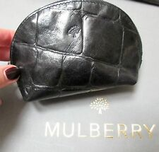 Authentic Mulberry Black Congo in pelle portamonete per borsa