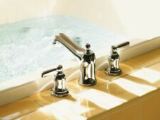 Kohler Bancroft Polished Chrome Two Handle Low Arc Roman Tub Faucet T10592-4-CP