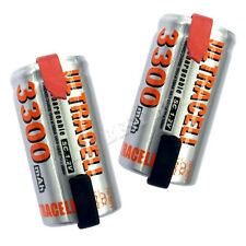 2 x Sub C 1.2V 3300mAh NiMH Rechargeable Battery Ultra