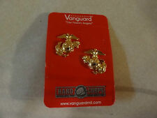 MILITARY INSIGNIA US MARINE CORPS COLLAR DEVICE SET OF 2 GOLD COLOR VANGUARD