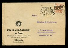 GERMANY 1948 HANSA LABORATORY ADVERT ENVELOPE...ELEPHANT POSTMARK