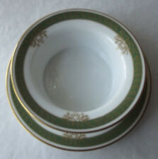 LOVELY ANTIQUE LIMOGES  LAZARUS STRAUS HANDPAINTED MAYONNAISE BOWL & UNDERPLATE