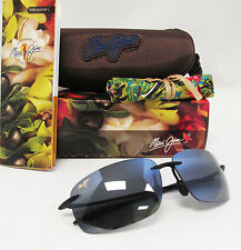 New Maui Jim Polarized BREAKWALL Gloss Black / Neutral Grey Sunglasses 422-02
