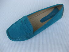 Pierre Dumas Womens Shoes NEW $45 Driving Turquoise Perf Loafer Driver 10 M
