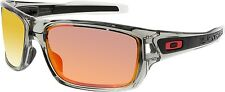 Oakley Men's Polarized Turbine OO9263-10 Grey Wrap Sunglasses