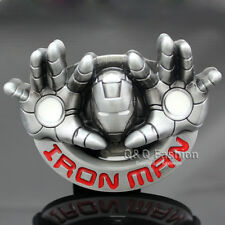 Western Retro Silver Iron Man Marvel Avengers Enamel Belt Buckle Costume Gift