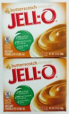 2X Boxes Jell-O Instant Butterscotch Pudding Pie Filling Mix 3.4oz Seasonal