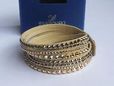 Swarovski Slake Deluxe Beige Armband Gold Bracelet Bracciale 5037392