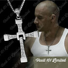 SILVER CROSS NECKLACE CRUCIFIX PENDANT FAST AND FURIOUS DOM TORETTO'S