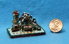 Dollhouse Miniature Gingerbread Country Cottage Christmas Decor ~ G3269