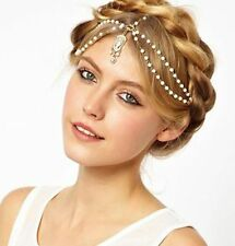 Celebrity Rhinestone Pearls Head Chain Headband Headpiece Hair Band Jewelry Gift