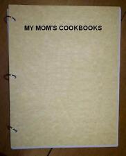 Party - Stuffed Mushroom -  My Mom's Cookbook - RingBound, Loose Leaf