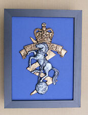 Large Scale Framed R.E.M.E. Badge Plaque Royal Electrical Mechanical Engineers