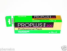 5 x FUJI PROPLUS II  200  Colour Neg Film--35mm/36 exps--FRESH--expiry: 07/2017