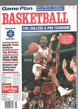 1991 GAME PLAN COLLEGE & PRO BASKETBALL YEARBOOK MAGAZINE-MICHAEL JORDAN-BULLS