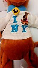 WARNER BROTHERS STUDIO STORE SCOOBY DOO NEW YORK CITY BEAN BAG NWT OFFICIAL