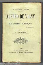 1894//LA POESIE POLITIQUE-ALFRED DE VIGNY/PAR L.DORISON