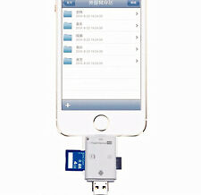 Max 32GB SD/TF Memory Card Reader i-Flash Drive For  iPad iPhone iPod Touch iOS