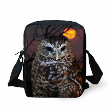 Fashion Owl Lunch Bag Cooler Tote Box Containers Croossbody Purse Handbag
