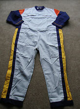 "BN OFFICIAL RENAULT TECHNICIANS BOILERSUIT OVERALL 55"" CHEST REG GREY/NAVY"
