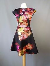 Ted Baker dress Embla cascading floral scuba skater size 0 UK 6
