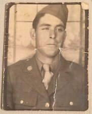 Vintage Photograph Photo Booth Handsome Man Pose Gay Interest  1940s Bn