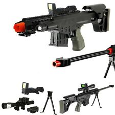 *315 FPS* Scout Sniper Tactical Airsoft Rifle M82a1 Gun M107 - RED-DOT -