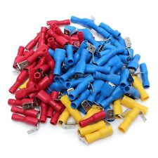 100pcs Fully Insulated Piggy Back Splice Connector Crimp Electrical Terminals