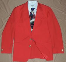 GIANNI VERSACE Red 2 Button side vents Medusa Buttons men's jacket coat 40 S