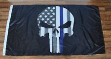 Punisher Skull Subdued Police Thin Blue Line American Flag Seal Chris Kyle LEO B