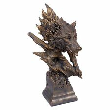 Wolf Bronze Bust / Figurine / Nemesis Now