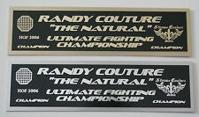 Randy Couture UFC nameplate for signed mma gloves photo or case