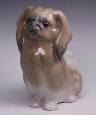 """Lladro Pekingese Porcelain Dog Figurine 6 1/8"""" Tall"""