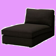 IKEA Kivik Chaise Sofa Chair Cover Teno Black Wool Lounge Slipcover Chase NEW