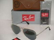 Ray Ban 3025 Aviator Full Silver Mirror RB 3025 W3277 58mm Silver Frame Medium