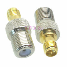1pce Adapter converter F TV female jack to RP*SMA female plug pin RF COAXIAL RG6