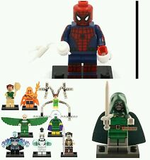 Set of 10 Marvel Spider-Man and villains minifigures .Lego compatable.US SELLER!