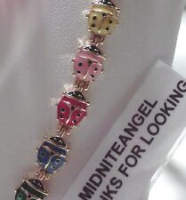 LADYBUG LADYBUGS MULTI COLOR MAGNETIC BRACELET JEWELRY HEALTH HEALING USA SELLER