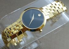 SWISS MOVADO FACETO 18K GOLD PLATED/S.S LADIES MODEL# 0605147 WATCH,RETAIL $1495
