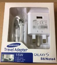 Genuine Samsung USB Charger Mains Adapter Sync Cable UK For Galaxy S5,S6,S7.