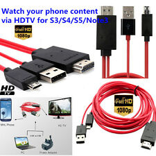 "4M MHL Micro USB to HDMI TV Adapter Cable For Samsung Galaxy Tab 4 10"" SM-T531"