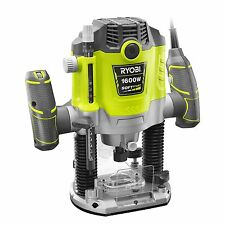 Ryobi PLUNGE ROUTER1600W  Dust Port, Micro Depth Control Knob & Stop Rod