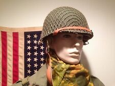 NEW REPRO WWII M-1C PARATROOPER HELMET (REFINISHED) W/ PLASTIC LINER & NETTING