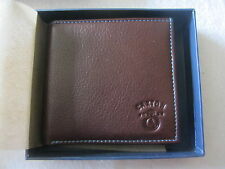 JAMES CAXTON MEN SOFT LEATHER BROWN WALLET ~ NEW & BOXED ~ FREE P&P