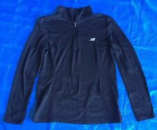 Womens New Balance Precision Run Half-Zip Lightning Dry Med Black FREE GIFT SALE