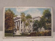 Releigh NC North, Worth Bagley & State House, early postcard