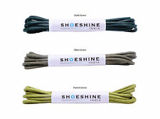 Waxed cotton dress shoe lace/ formal laces 2mm thin (3 Pair Pack)