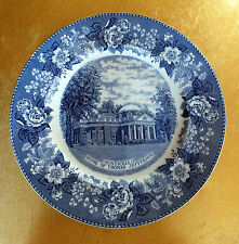 Alfred Meakin blue and white plate Monticello Home of Thomas Jefferson